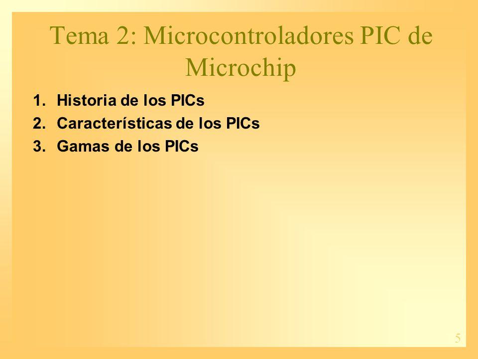 Tema 2: Microcontroladores PIC de Microchip