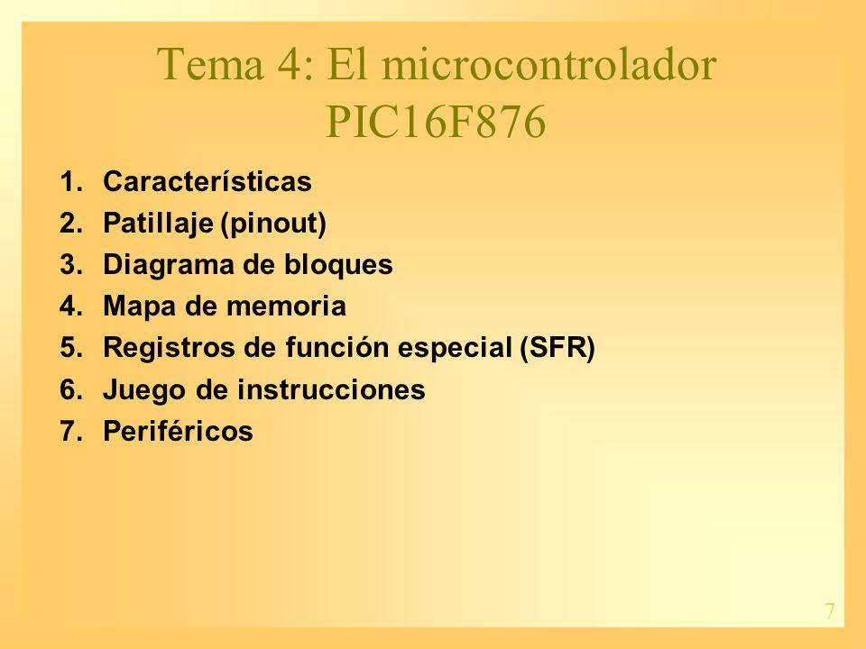 Tema 4: El microcontrolador PIC16F876