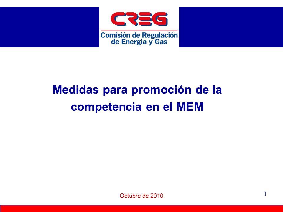 Medidas para promoción de la competencia en el MEM