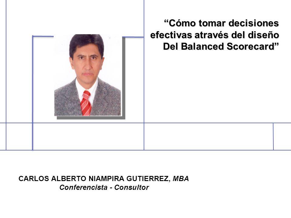 CARLOS ALBERTO NIAMPIRA GUTIERREZ, MBA Conferencista - Consultor