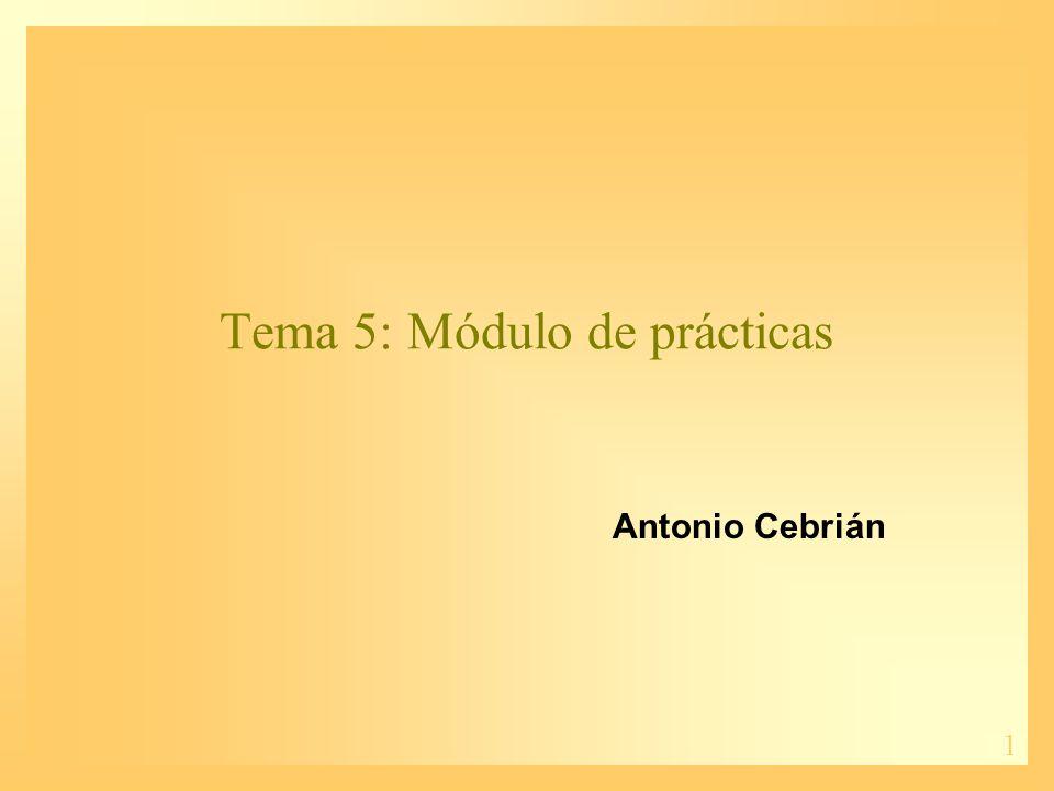 Tema 5: Módulo de prácticas