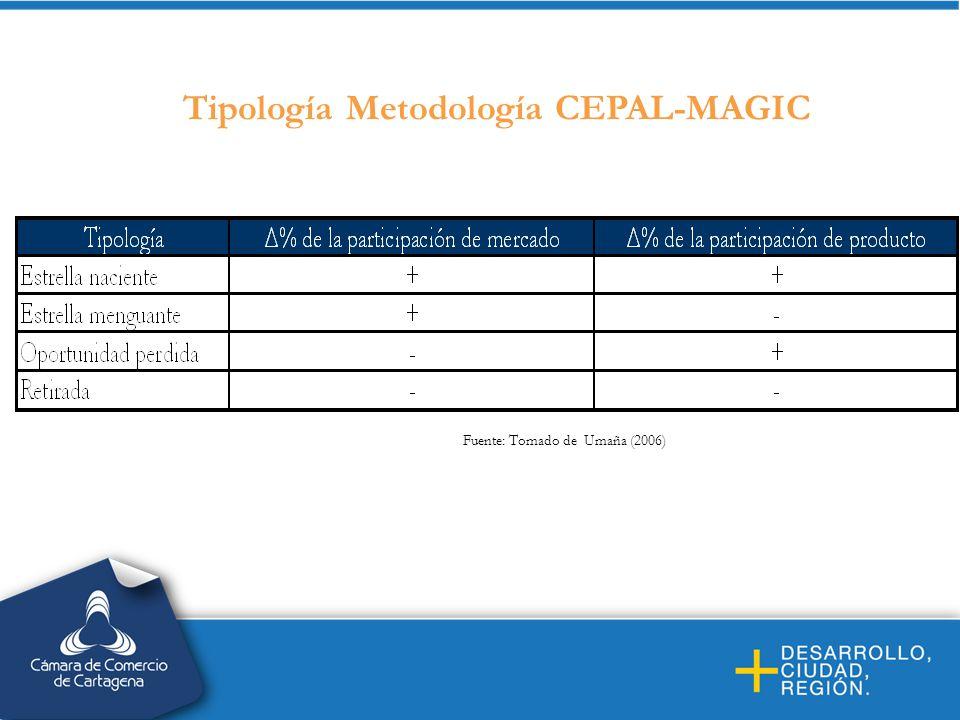 Tipología Metodología CEPAL-MAGIC