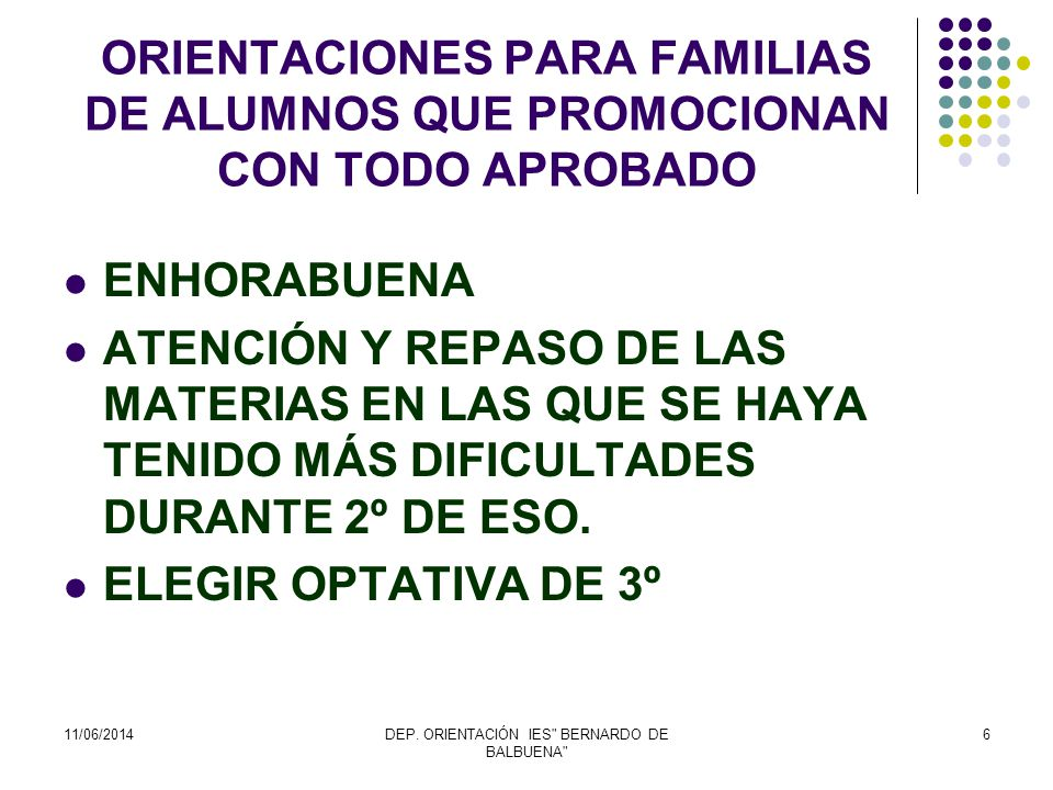 DEP. ORIENTACIÓN IES BERNARDO DE BALBUENA