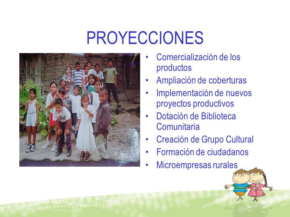 PROYECCIONES Comercialización de los productos