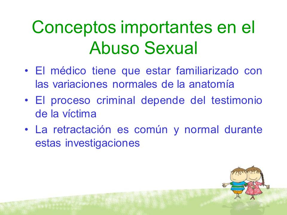 Conceptos importantes en el Abuso Sexual