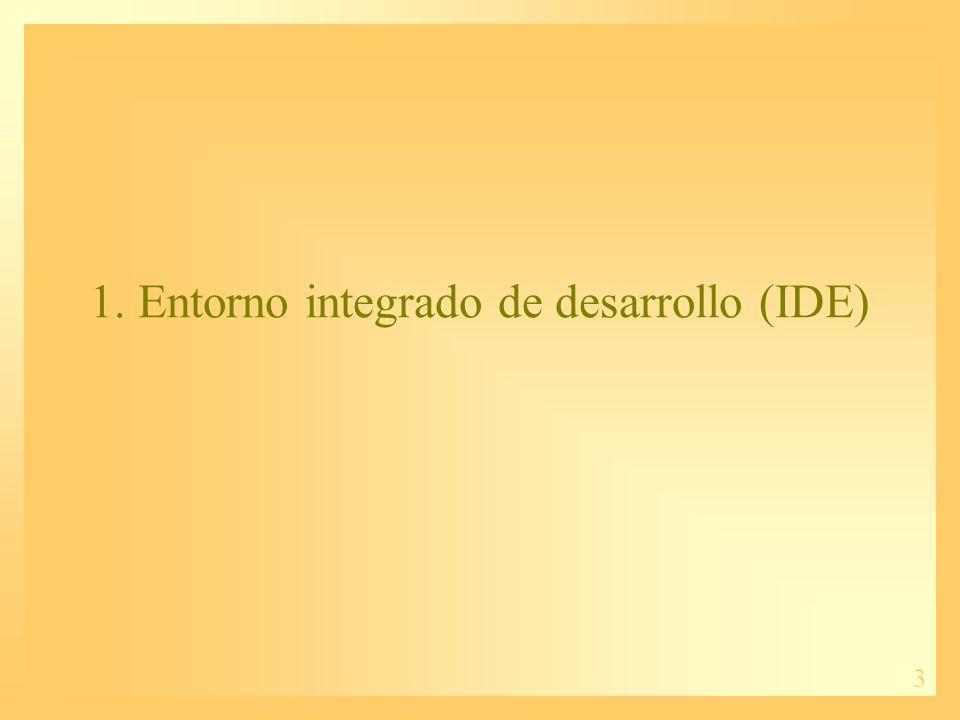 1. Entorno integrado de desarrollo (IDE)