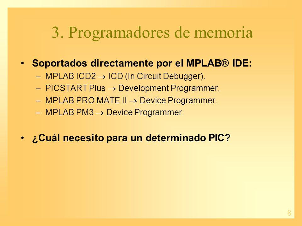 3. Programadores de memoria