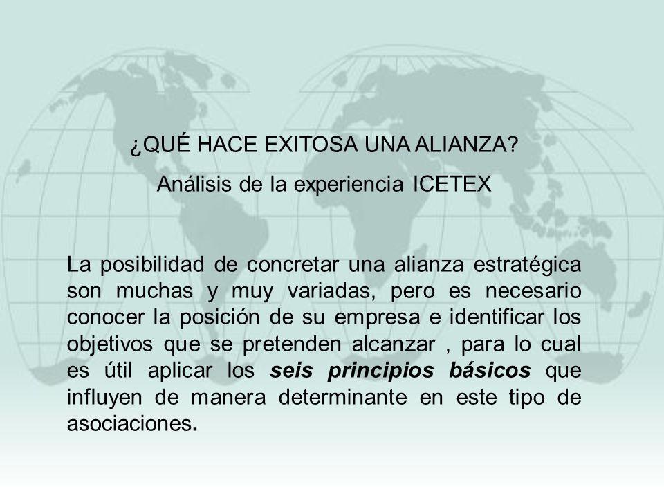 ¿QUÉ HACE EXITOSA UNA ALIANZA Análisis de la experiencia ICETEX