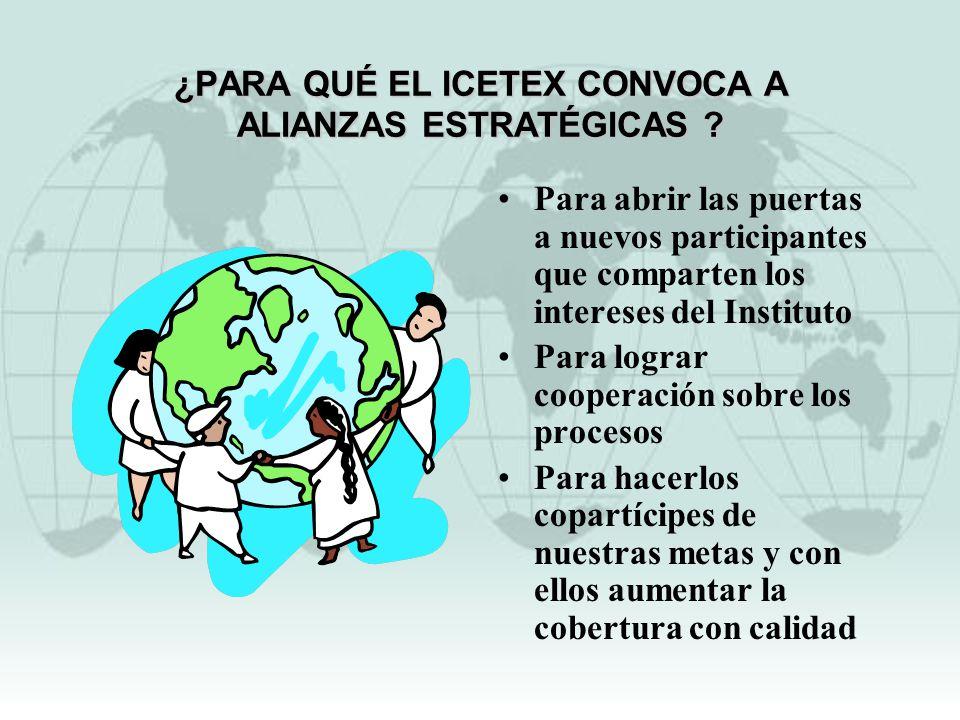 ¿PARA QUÉ EL ICETEX CONVOCA A ALIANZAS ESTRATÉGICAS
