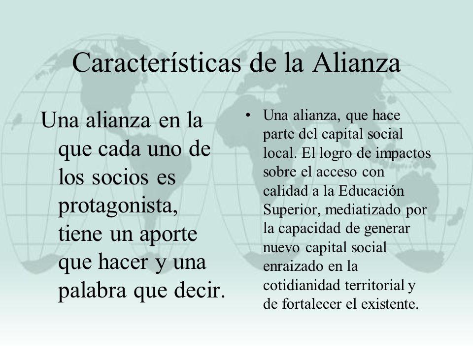 Características de la Alianza