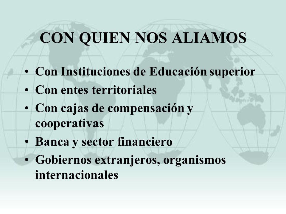 CON QUIEN NOS ALIAMOS Con Instituciones de Educación superior