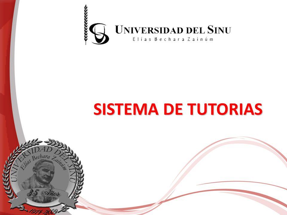 SISTEMA DE TUTORIAS
