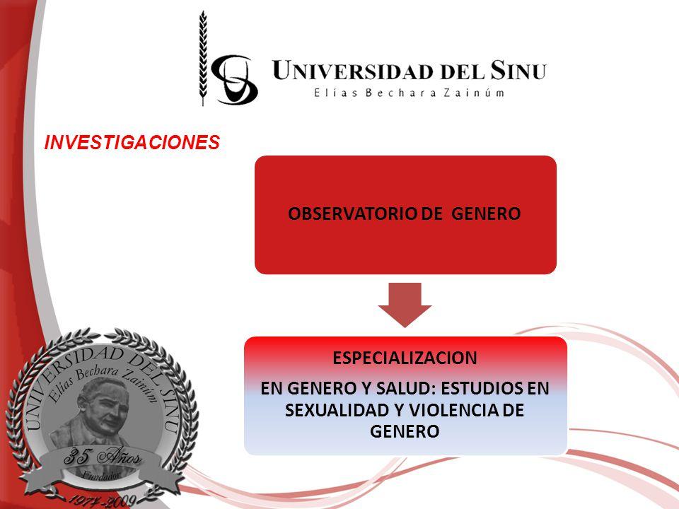 INVESTIGACIONES OBSERVATORIO DE GENERO