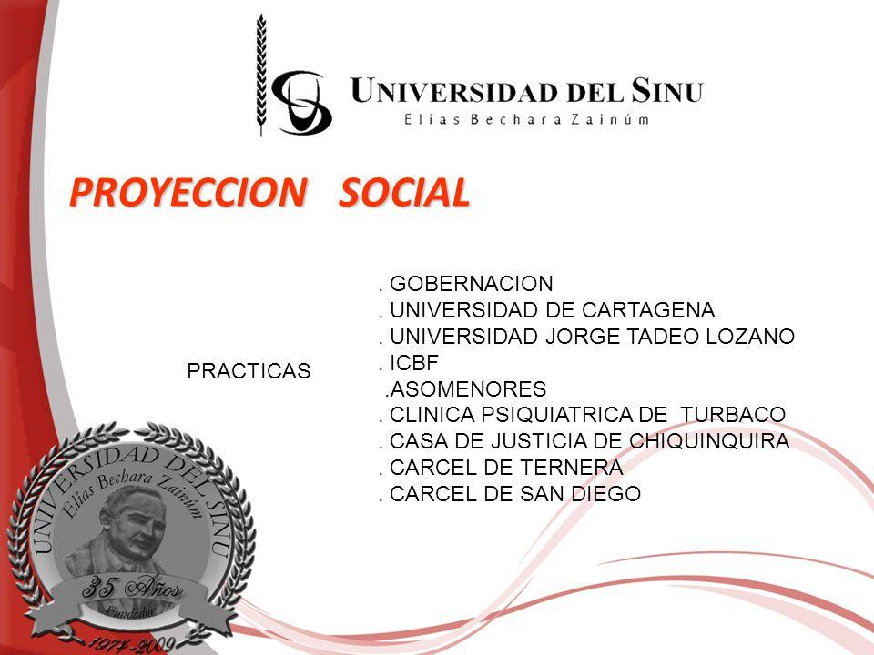 PROYECCION SOCIAL . GOBERNACION . UNIVERSIDAD DE CARTAGENA