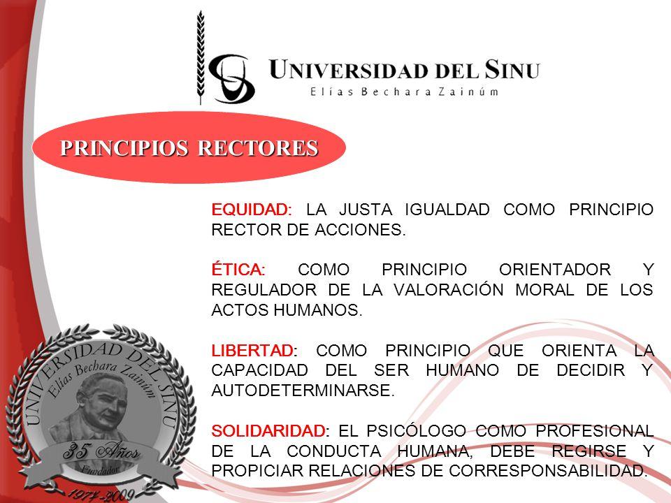 PRINCIPIOS RECTORES EQUIDAD: LA JUSTA IGUALDAD COMO PRINCIPIO RECTOR DE ACCIONES.