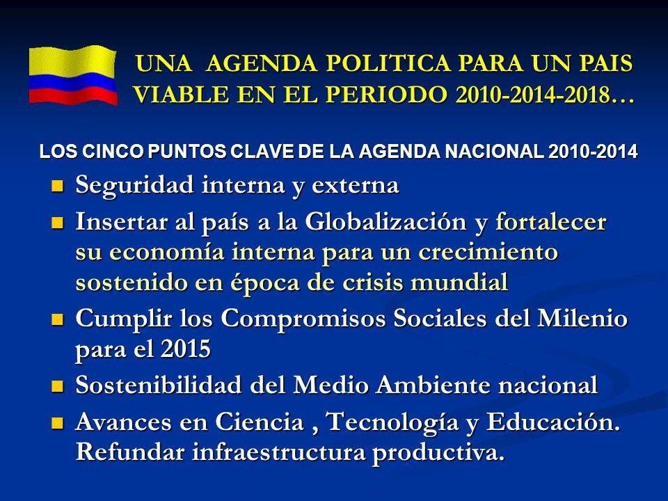 LOS CINCO PUNTOS CLAVE DE LA AGENDA NACIONAL 2010-2014