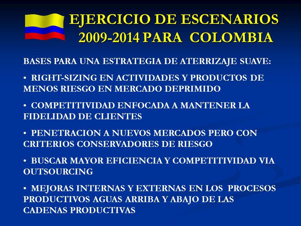 EJERCICIO DE ESCENARIOS 2009-2014 PARA COLOMBIA