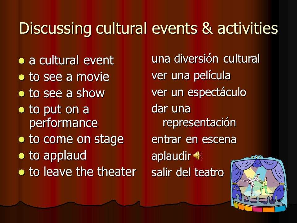 Discussing cultural events & activities