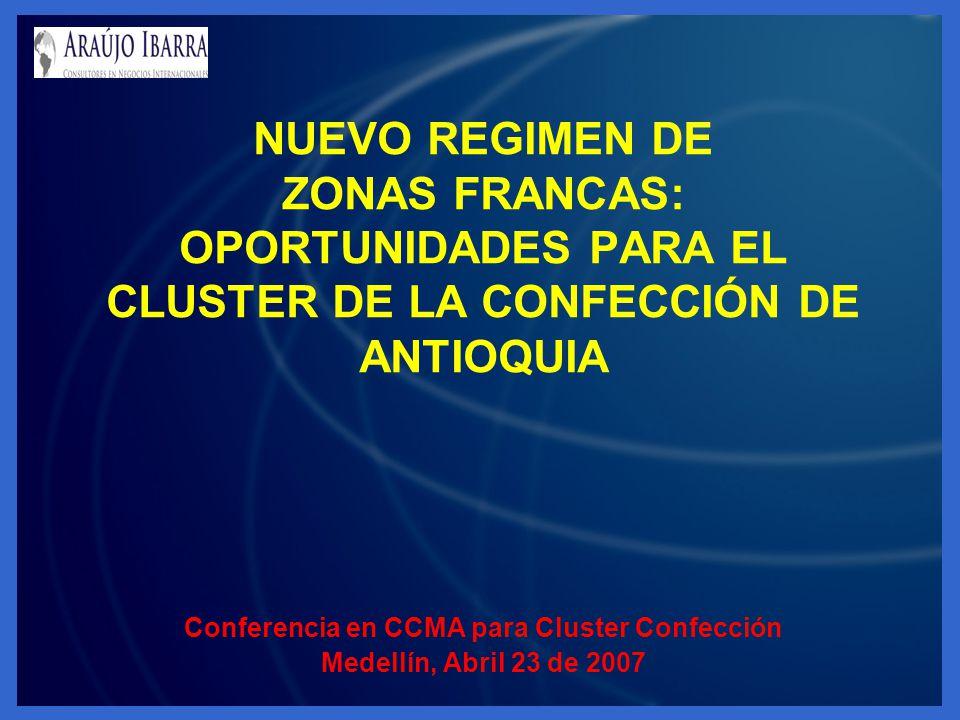 Conferencia en CCMA para Cluster Confección Medellín, Abril 23 de 2007