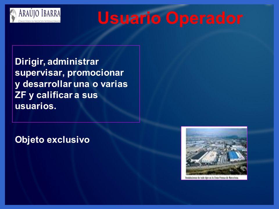Usuario Operador Dirigir, administrar supervisar, promocionar
