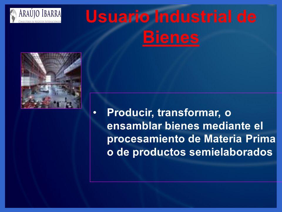 Usuario Industrial de Bienes