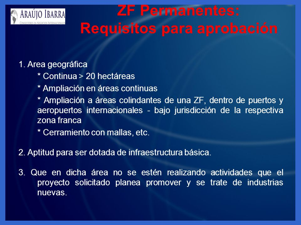 ZF Permanentes: Requisitos para aprobación