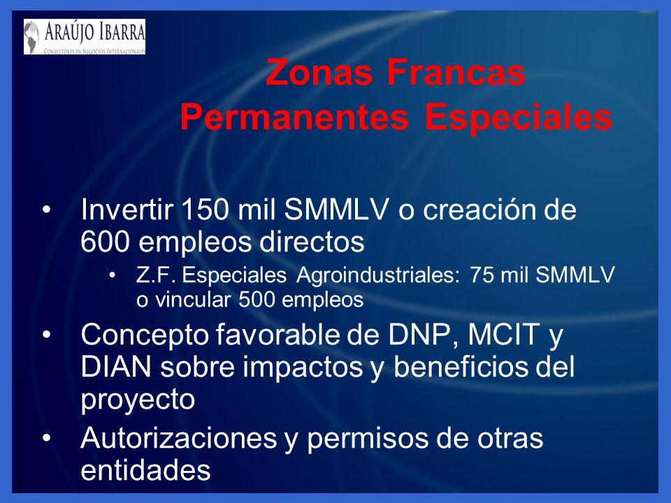 Zonas Francas Permanentes Especiales