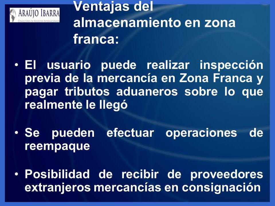 Ventajas del almacenamiento en zona franca: