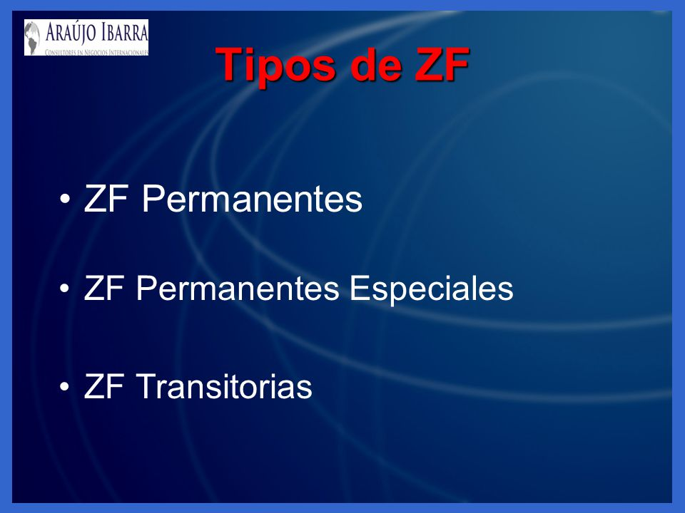 Tipos de ZF ZF Permanentes ZF Permanentes Especiales ZF Transitorias
