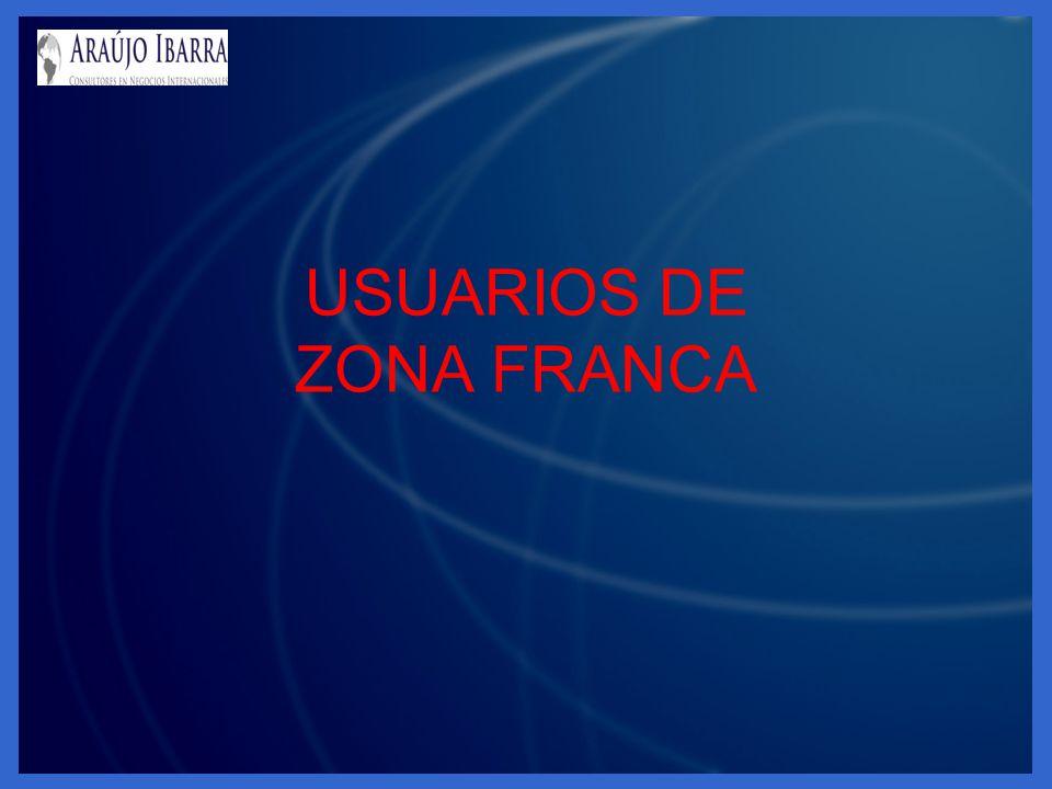 USUARIOS DE ZONA FRANCA
