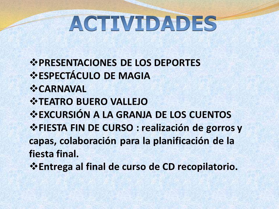 ACTIVIDADES PRESENTACIONES DE LOS DEPORTES ESPECTÁCULO DE MAGIA
