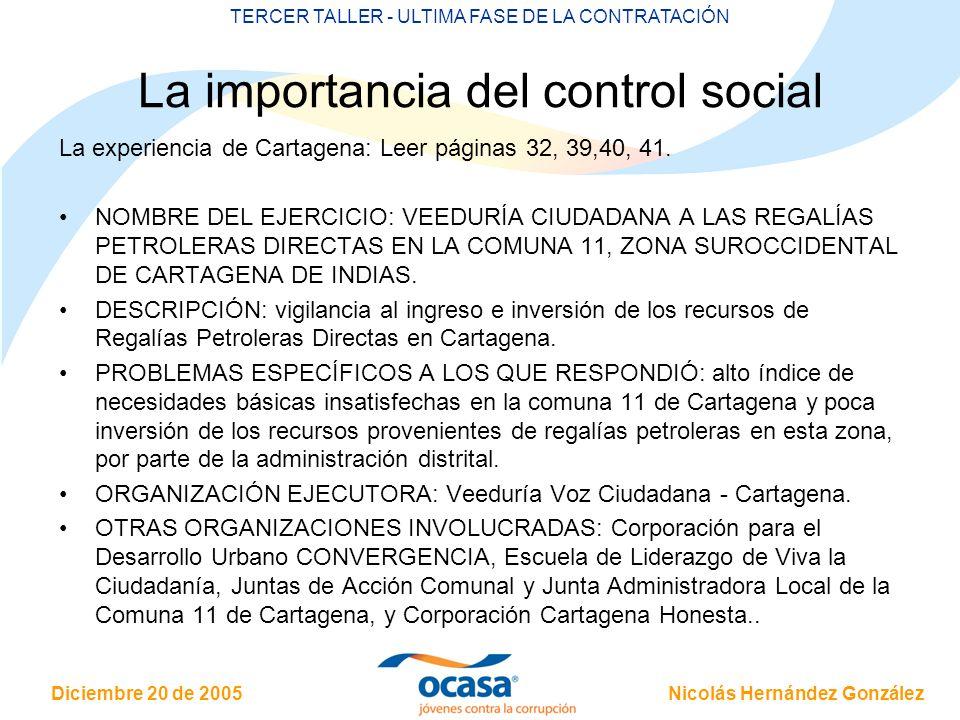 La importancia del control social