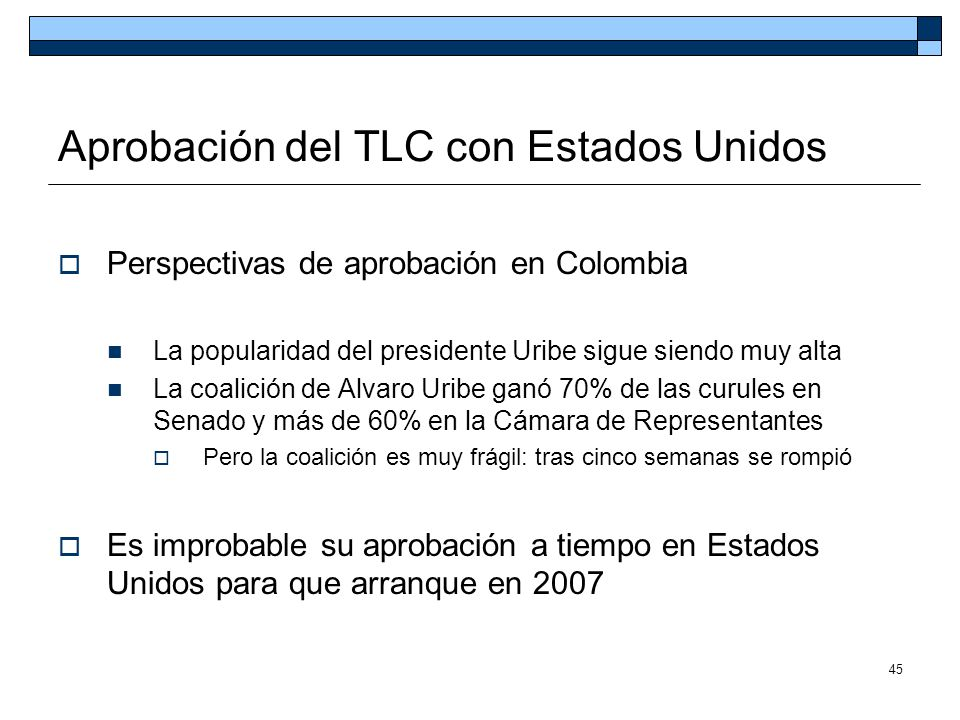 Aprobación del TLC con Estados Unidos