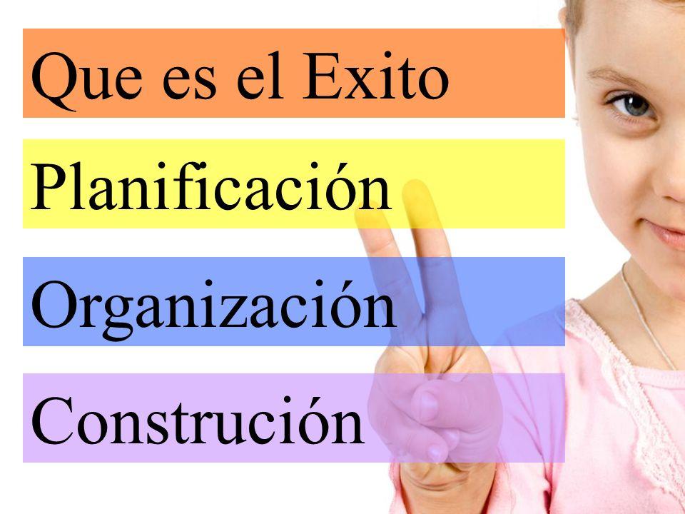 Que es el Exito Planificación Organización Construción