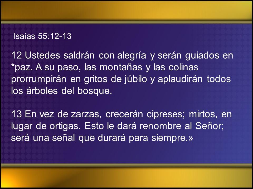 Isaías 55:12-13