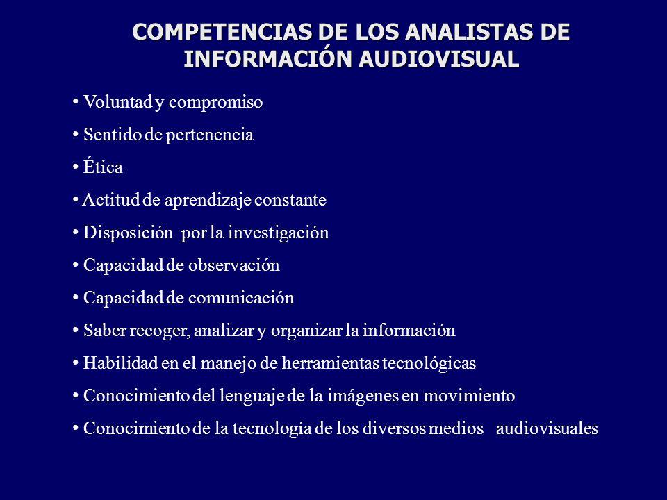 COMPETENCIAS DE LOS ANALISTAS DE INFORMACIÓN AUDIOVISUAL