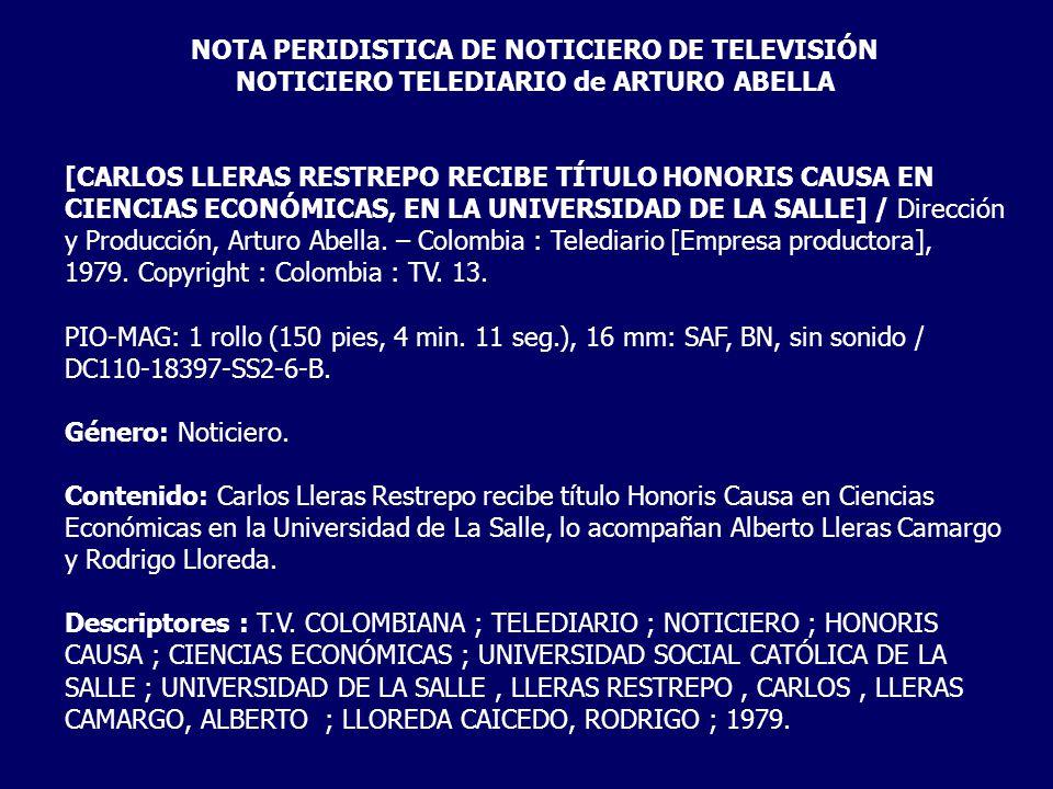 NOTA PERIDISTICA DE NOTICIERO DE TELEVISIÓN