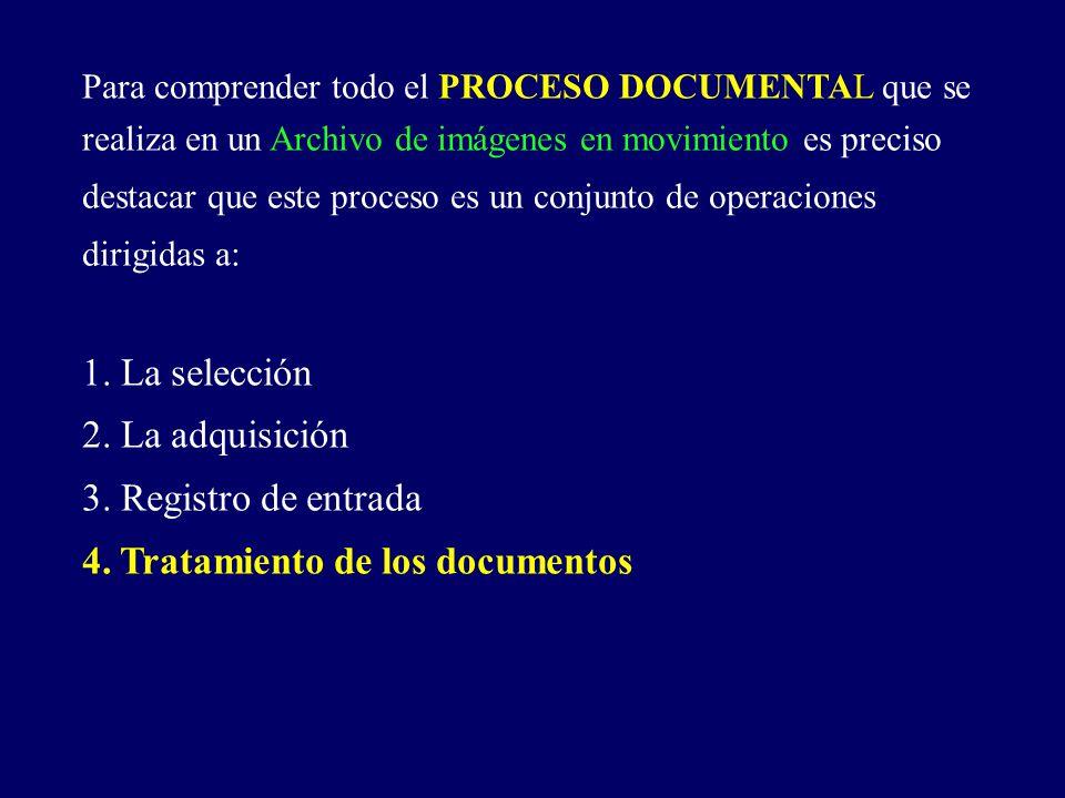 4. Tratamiento de los documentos