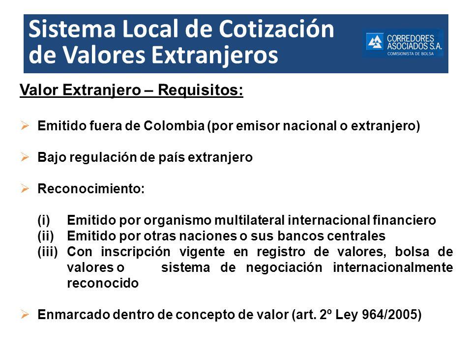 Sistema Local de Cotización de Valores Extranjeros