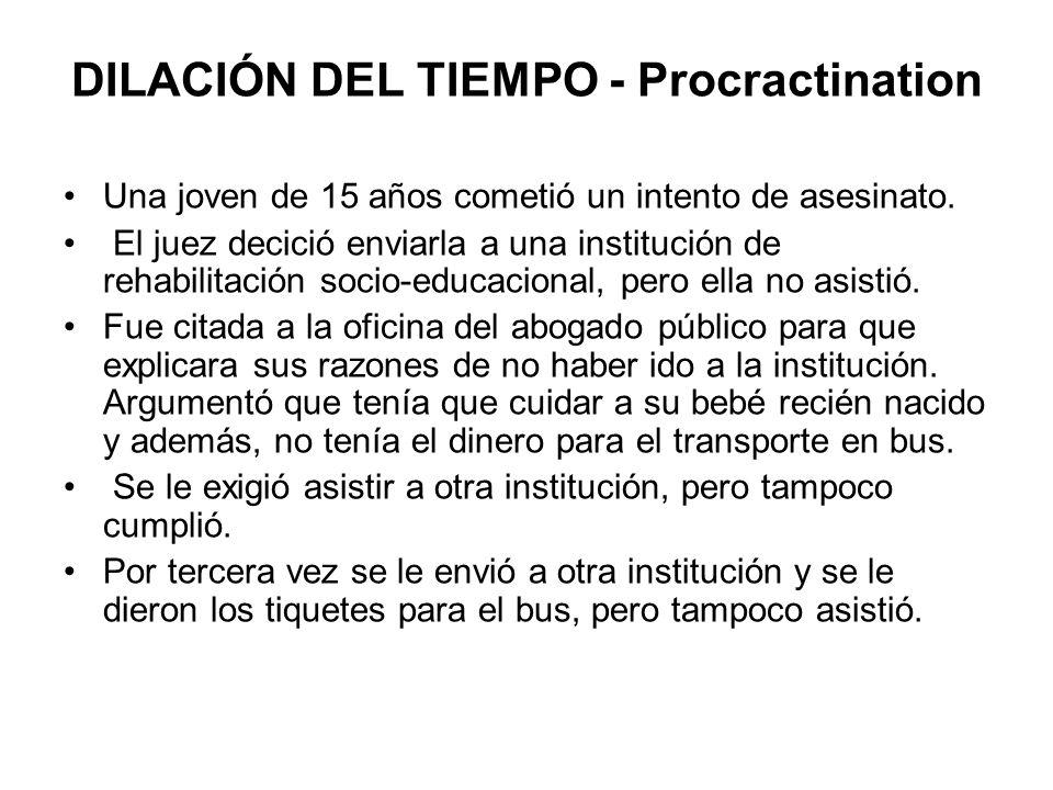 DILACIÓN DEL TIEMPO - Procractination
