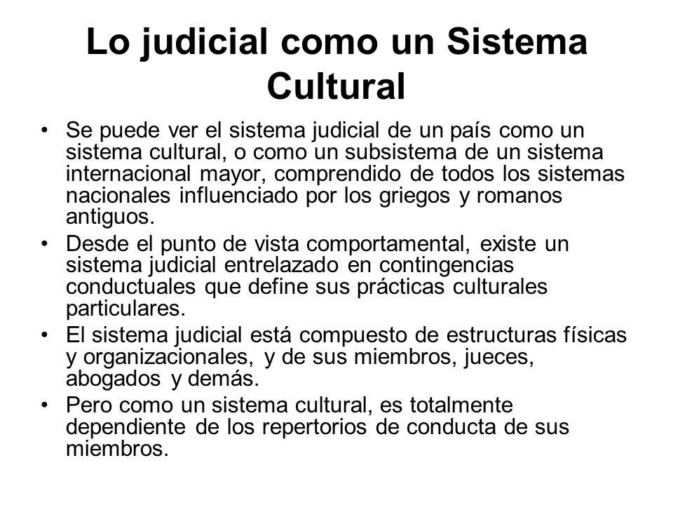 Lo judicial como un Sistema Cultural