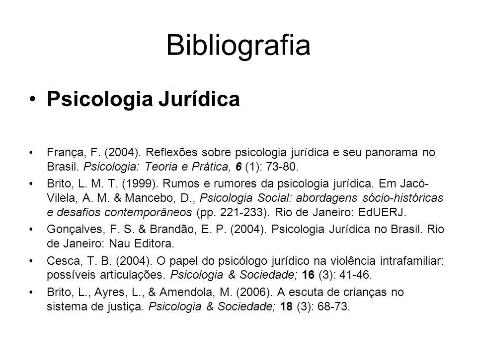 Bibliografia Psicologia Jurídica