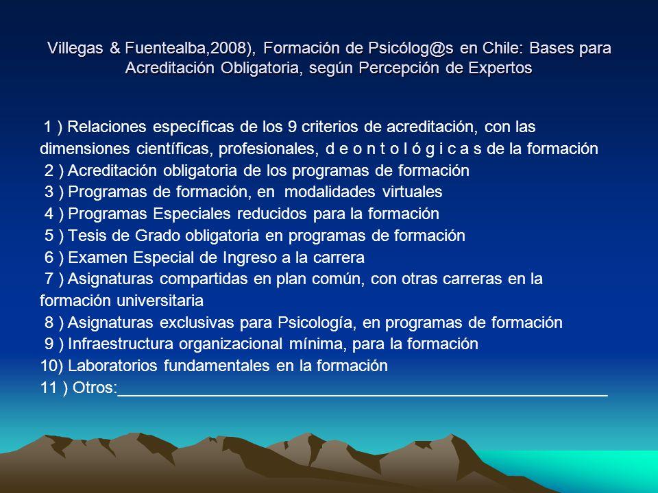 2 ) Acreditación obligatoria de los programas de formación