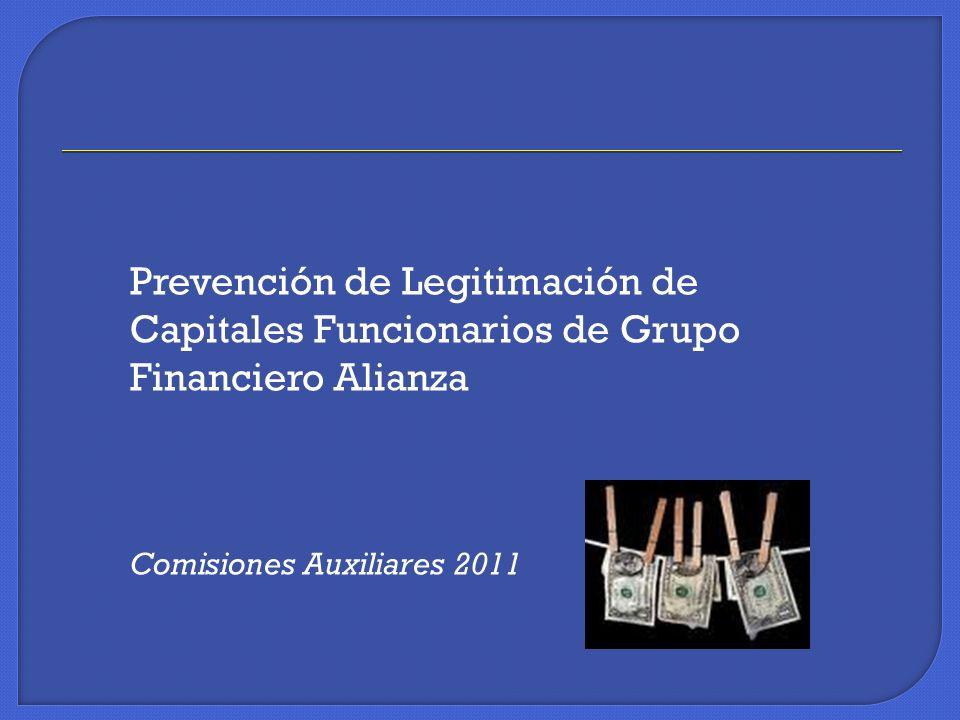 Prevención de Legitimación de Capitales Funcionarios de Grupo Financiero Alianza