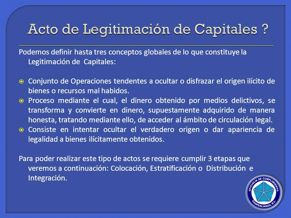 Acto de Legitimación de Capitales