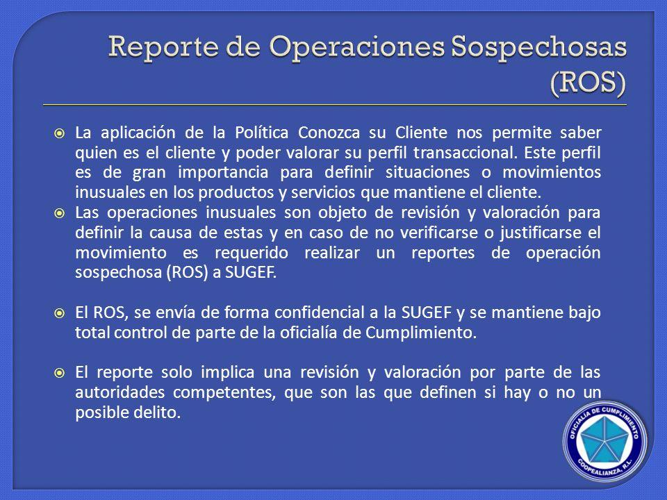 Reporte de Operaciones Sospechosas (ROS)