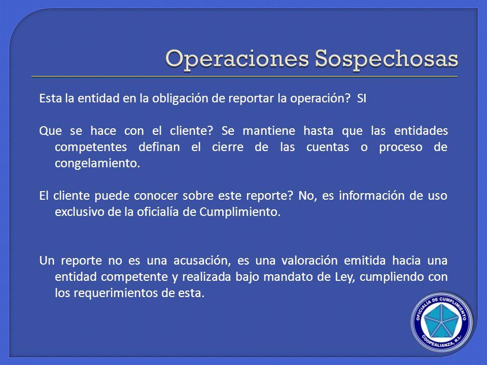 Operaciones Sospechosas