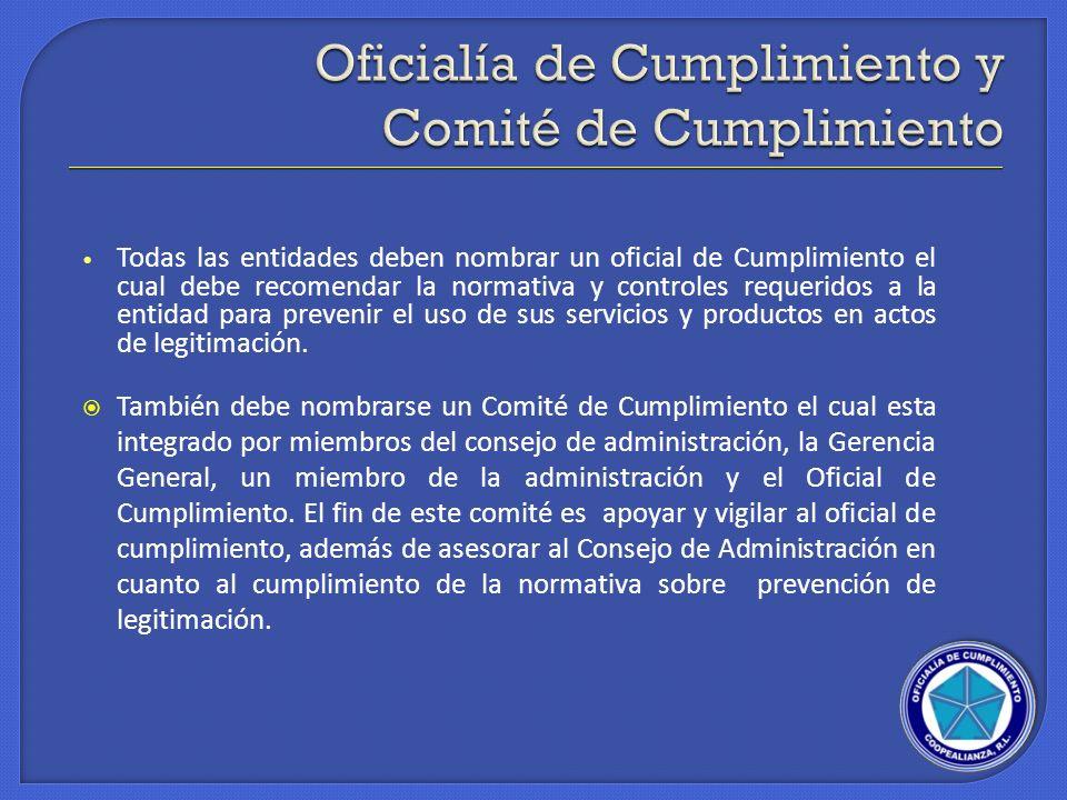 Oficialía de Cumplimiento y Comité de Cumplimiento