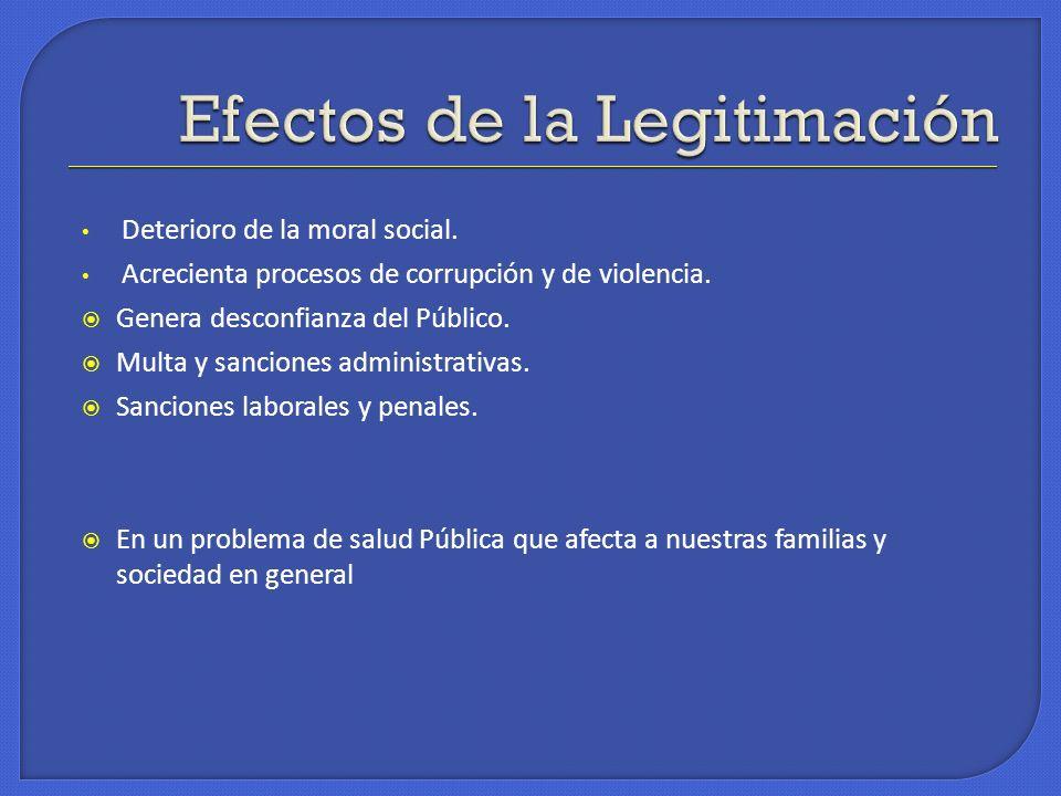 Efectos de la Legitimación
