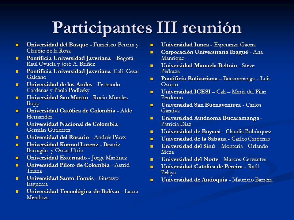Participantes III reunión